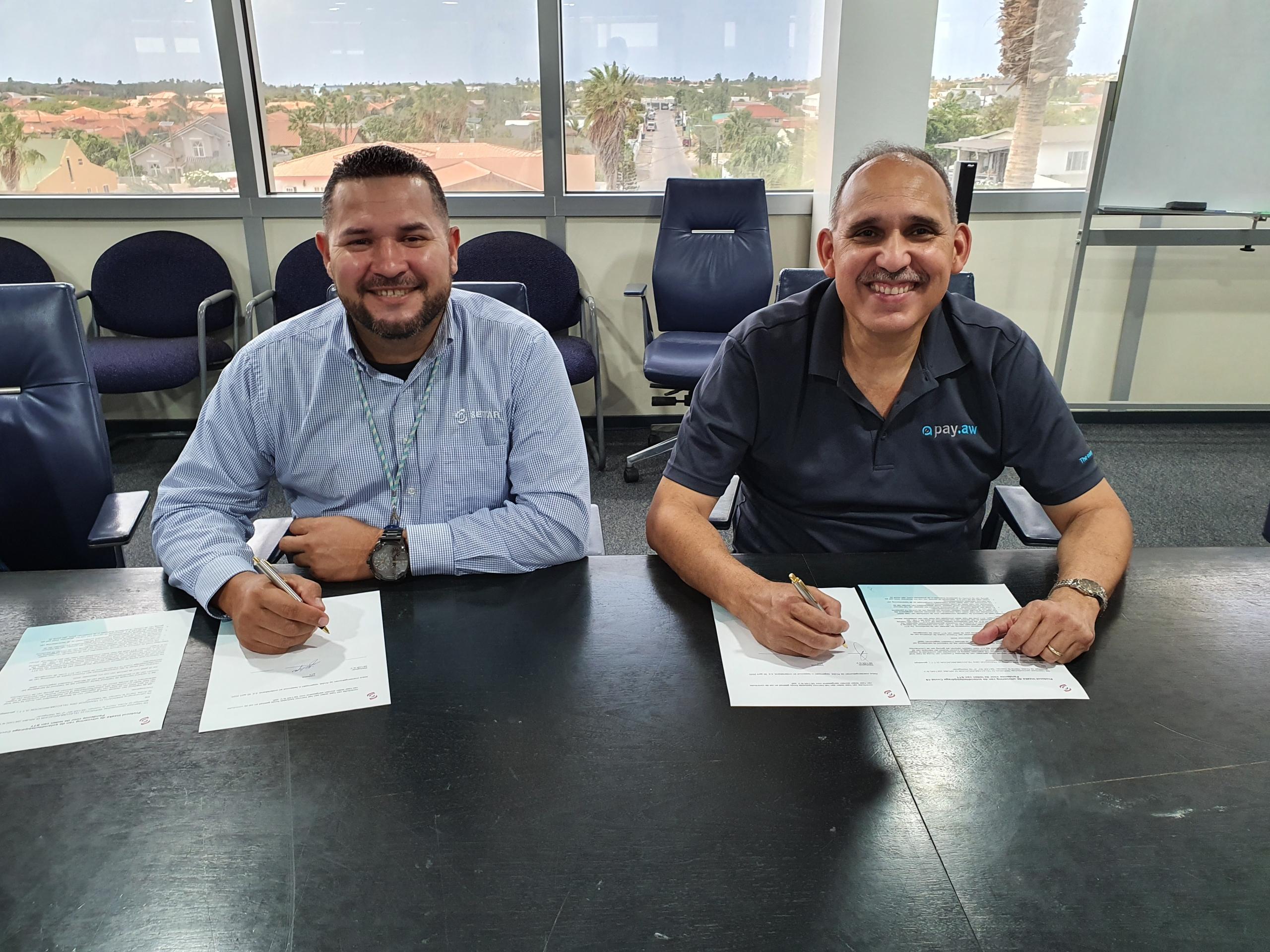 STT y SETAR a firma un protocol