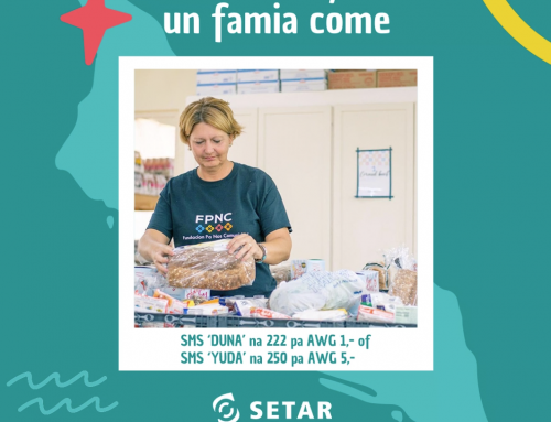 SETAR cu campaña di SMS pa yuda e iniciativa di Happy To Give Back